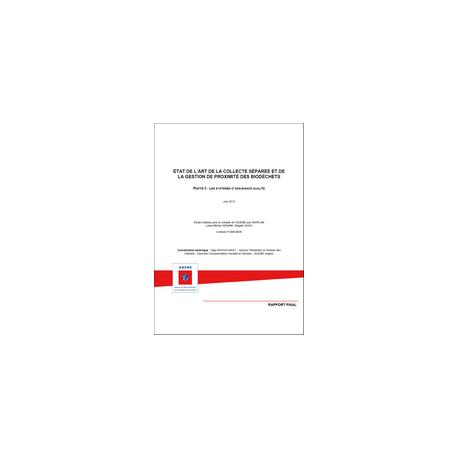 État de l'art de la collecte séparée et de la gestion de proximité des biodéchets - Partie 1 : analyse comparative